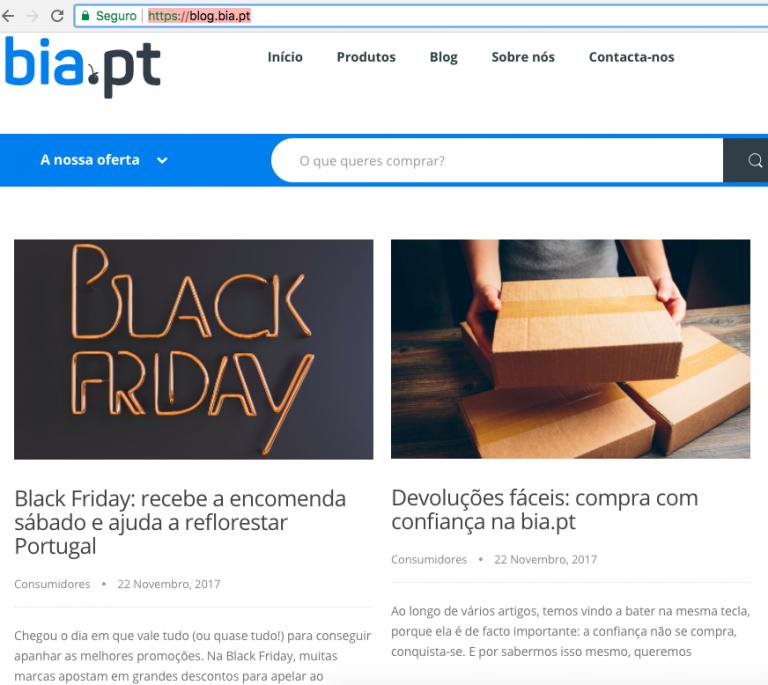 portfolio 4/6  - Artigos para o marketplace português blog.bia.pt