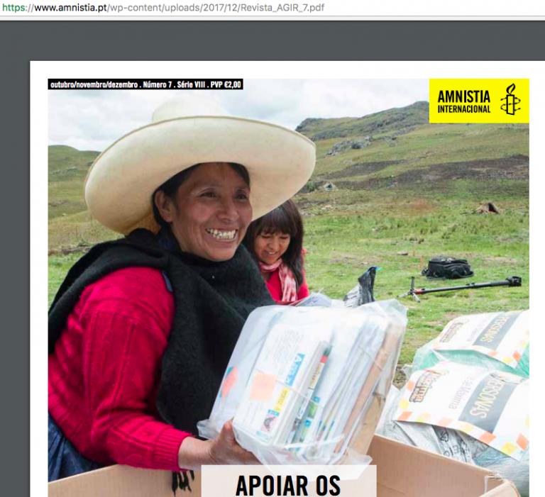 portfolio 3/6  - Revisão e edição da revista da Amnistia Internacional - Portugal