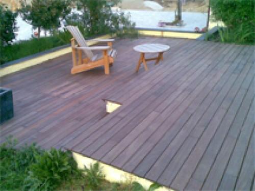 """portfolio 3/11  - Colocação de """"Deck"""" em madeira exótica em terraço de Moradia Monte Estoril Lisboa"""