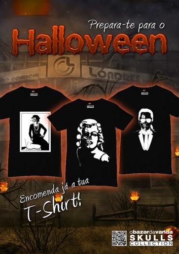 portfolio 24/26  - Cartaz Halloween Desenvolvido para a loja OBV