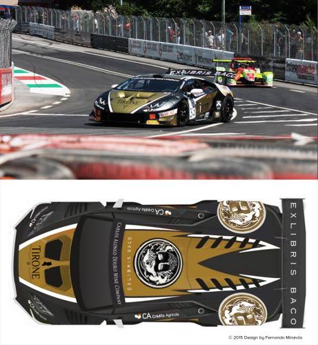 portfolio 20/26  - Car wrap Design do Lamborghini Huracán WTCC 2015