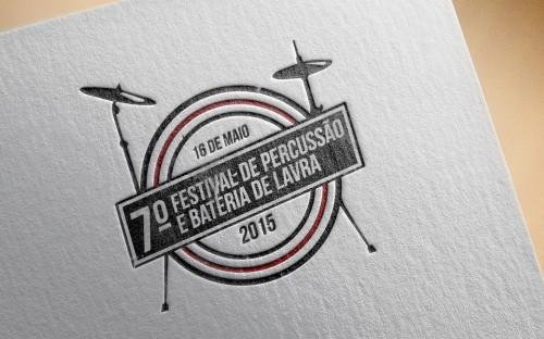 portfolio 8/16  - Festiva de Percussão e Bateria de Lavra - Logo Design